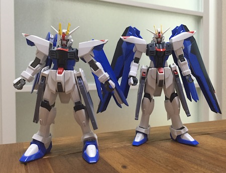 A post showing the difference in design between the old and new Revive Freedom Gundams. I'll get to testing out just what the new Freedom can do.